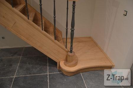 trap aan de onderkant afwerken